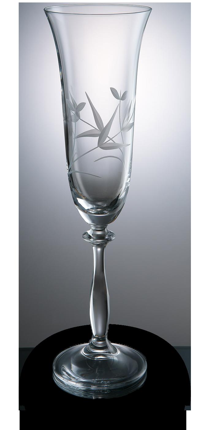 Elegantní broušená sklenice na šampaňské