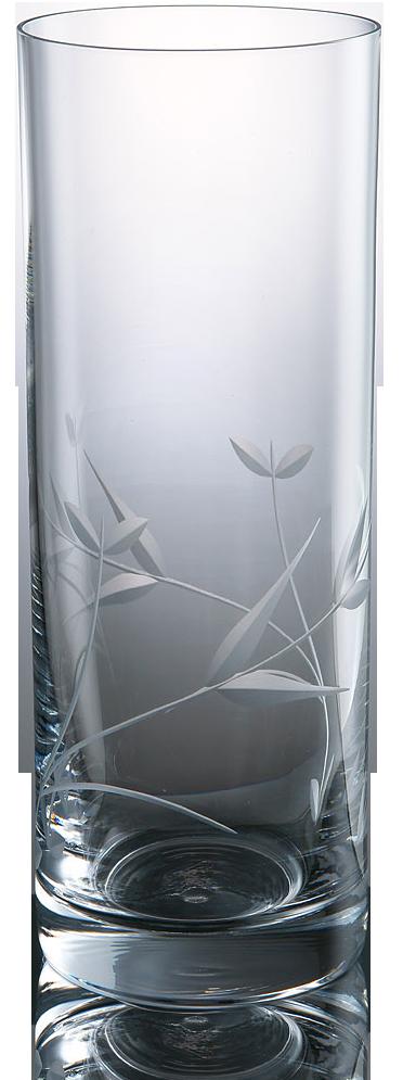 Elegantní broušená sklenice na vodu s dekorací