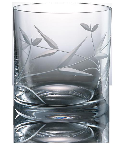 Elegantní broušená sklenice na whisky s lehkou dokarací