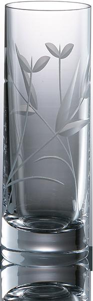 Elegantní broušená sklenice na likér s dekorací