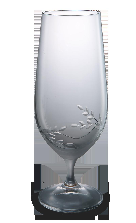 Broušená sklenice na pivo s dekorací