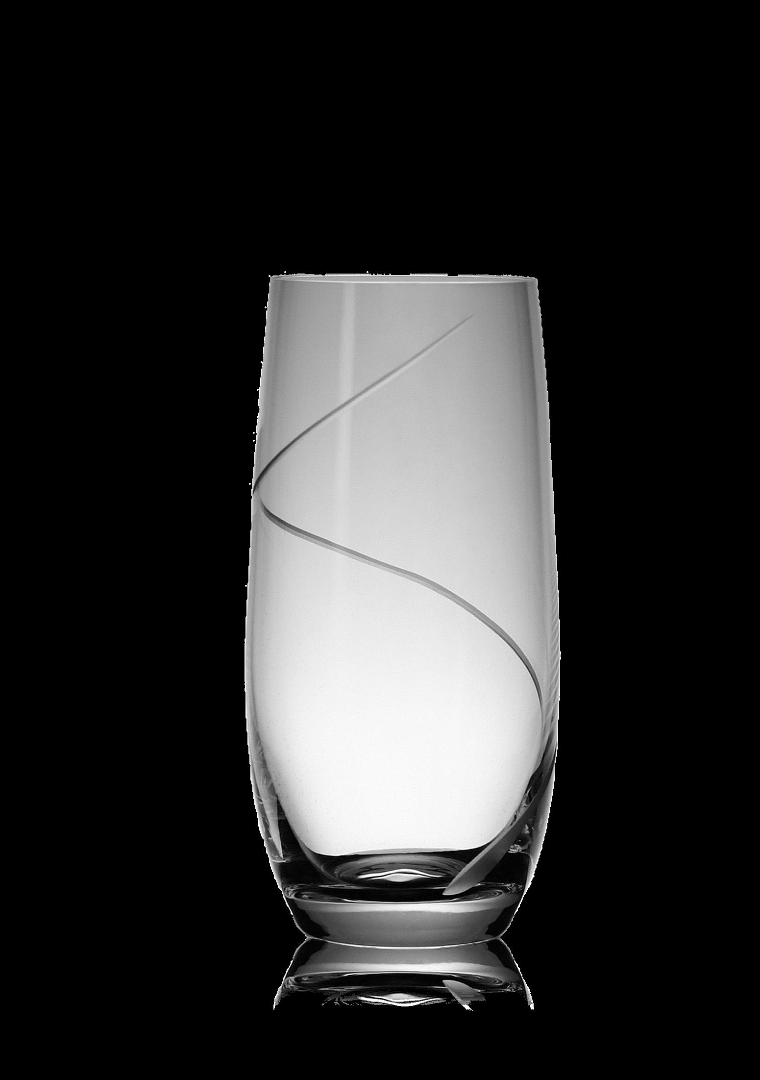 Střední broušená sklenice na vodu s dekorací
