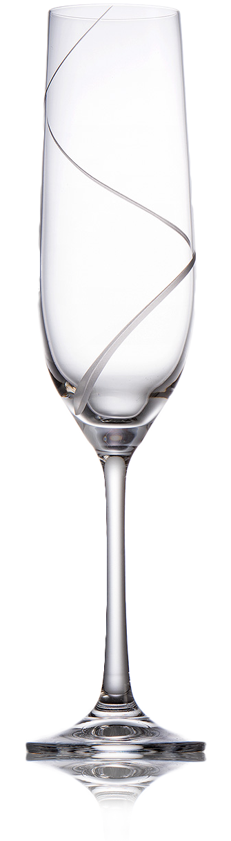 Broušené sklenice na šampaňské